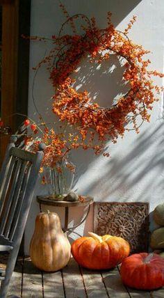 Rustic wreaths.