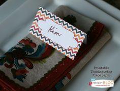 Thanksgiving Printable Placecards | thanksgiving printables | todayscreativeblog.net