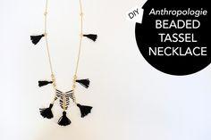 DIY Anthropologie Beaded Tassel Necklace