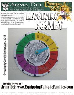 Revolving Rosary: 3 Ways plus Rosary coloring page with all the prayers and Mysteries. Free to subscribers and likers.
