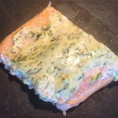 Grilled Salmon wiht Dill Sauce | Grilled salmon stays moist with a simple mayonnaise and dill sauce.