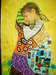 Love this!JennyKayKidsArt: Klimt Inspired self portraits for elementary kids (though I think it could be adapted to older grades, too)