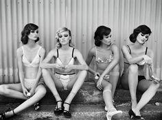Photographer: Liz Ham @ 2c management Client: Helmet magazine Models: Georgia Fowler, Zippora Seven, Grace Hollows, Jenny Sweeney Styling: Jolyon Mason @ 2c management