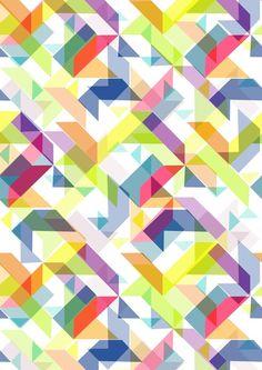 Aztec Geometric II by AJJ ▲ Angela Jane Johnston