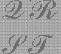 Letters cross stitch