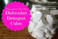 Make your own NonToxic Dishwasher Detergent Cubes :)