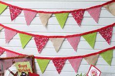 fabric pennants!
