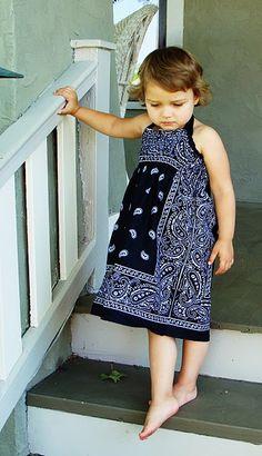 toddler bandanna dress