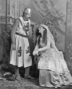 "Lord and Lady Ampthill as ""a Knight and Lady-in-Waiting of King Arthur's Round Table"""