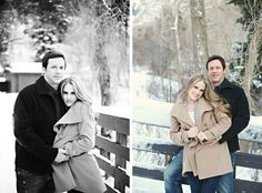 Love the winter engagement pics