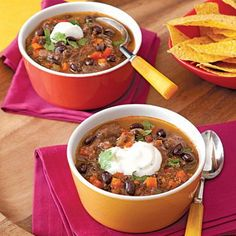 Black Bean Soup recipe - hearty enough for a full meal but also goes well with tortillas or a quesadilla #soup #fall