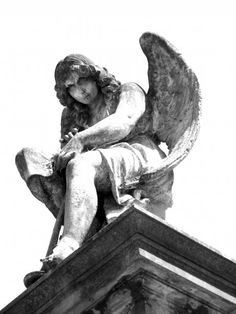 Statue at Chacarita Cemetery, Buenos Aires, Argentina