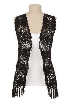 Crochet to Wear on Pinterest Crochet Vests, Crochet ...