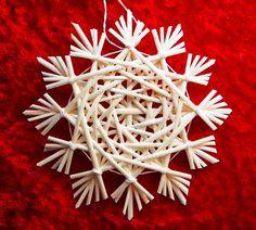 Traditional German straw star ornament. $8.00, via Etsy.