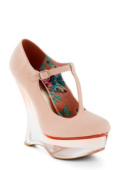 Stay Glassy, San Diego Wedge - Pink, Statement, High, Wedge, Girls Night Out