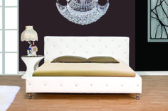 Crystal Buttons And Chrome Legs This Bed Is Available In Both Black