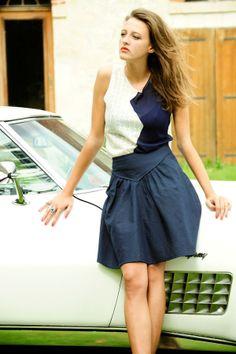 Carnet de Mode Tank Top - Gonzales - Navy Blue & White on shopstyle.com