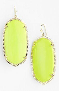 Neon Yellow Danielle Earrings.