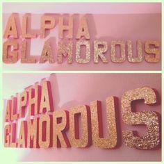 instagram, alpha gamma delta, agd crafts, alpha glamor, glitteri letter, glitter letter, cardboard letters, craft ideas, girl names