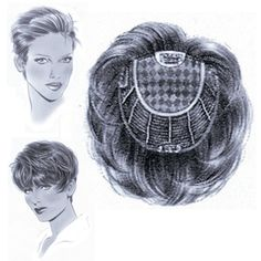 """Micro-Top Top-It  Fine integration piece  Coverage in those important areas for natural hair integration.  Fashioned on our 8"""" micro lace top - each hair is implanted, strand by strand, to simulate natural growth.  Lightly layered in 4"""" - 5"""" lengths - this exclusive design adds volume for thinning problems as it integrates with one's own hair for a natural look. For smaller area coverage, this style may be cut down.  The Perfect Solution for Fine Hair and Thinning Hair"""