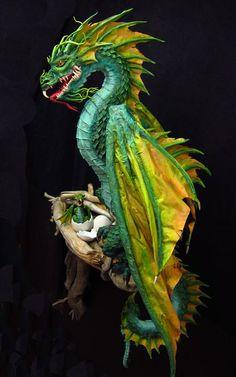 PAPER MACHE BLOG: New Paper Mache Dragon- Finished!