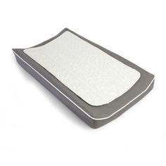 Changing Pad Cover & Topper- Pewter & White  CPT-P
