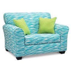 Cute teen chair decor teen chair teal zebra tween teal bedroom