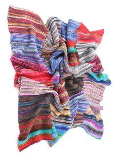 HandKnitted Patchwork Blanket