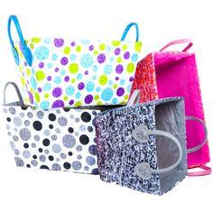 Jute bins in new designs!  Get organized for just $5! #FiveBelow