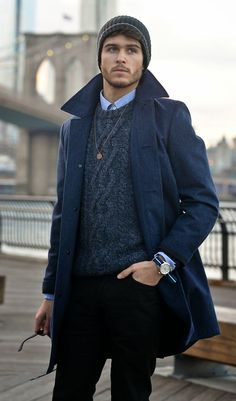cable knits & tailored coats #menswear #class #style #mensstyle