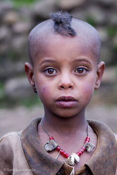 Ethiopian Boy with beautiful, innocent eyes.