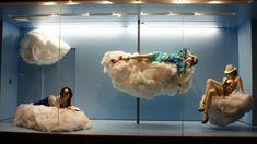 clouds, visual merchandis, patina, window shop, windowstoreshopad display, window displays, shop window, visual display, window idea
