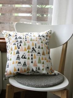 triangles pillow cover by Leah Duncan