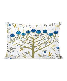 Love this Ivory & Gold Menorah Pillow on #zulily! #zulilyfinds