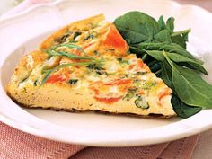Low Fat Frittata with Smoked Salmon and Scallions