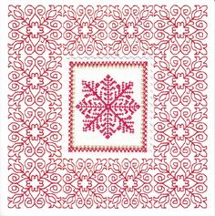 free redwork patterns | Redwork Embroidery Snowflake