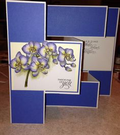 Orchids - Modified Tri Fold card