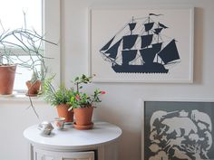 Sailing Ship Poster by Banquet on Etsy, $60.00