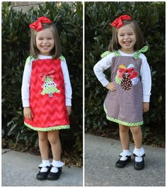 REVERSIBLE Holiday Dress for Thanksgiving and Christmas!