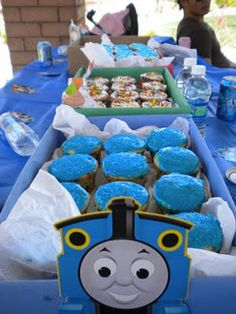 very doable thomas cupcake train