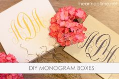 DIY Monogram Boxes | I Heart Nap Time - How to Crafts, Tutorials, DIY, Homemaker