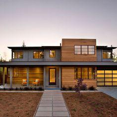 wood, modern exterior, architectur, dream homes, garages, garage doors, modern houses, modern homes, design