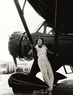 American actress Ruth Chatterton was an early female aviator who befriended Amelia Earhart, sponsored air derbies, and flew cross-country solo.