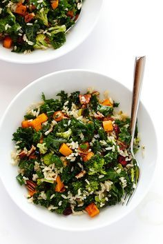 Autumn Kale Salad wi