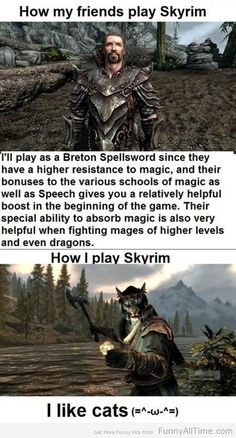 The only difference is that I always choose Nord because I like to smash.