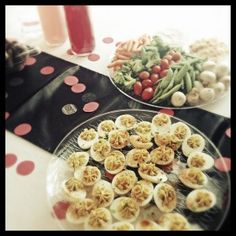 1950s appetizers Love devilled eggs