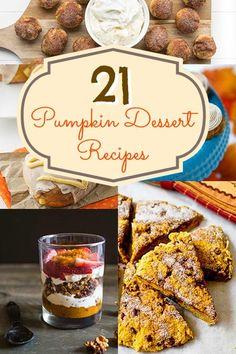 21 Pumpkin Dessert Recipes