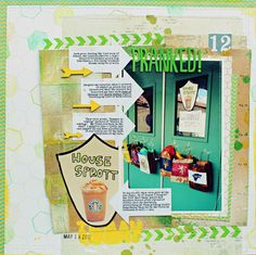 Pranked! layout by Jill Sprott #scrapbooking
