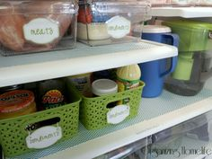 Cleaning/organizing the fridge & fridge coasters