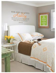 personalized Bible Verse to remind us that God's desires a PERSONAL relationship with us! - LOVE for the kids bedroom!